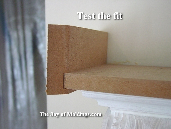 how to install crown molding over door