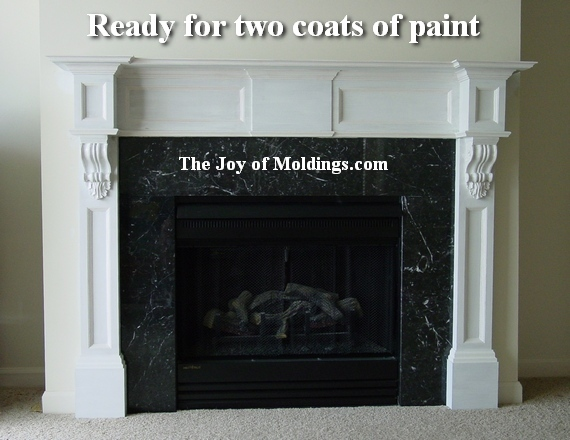 how to paint a fireplace mantel