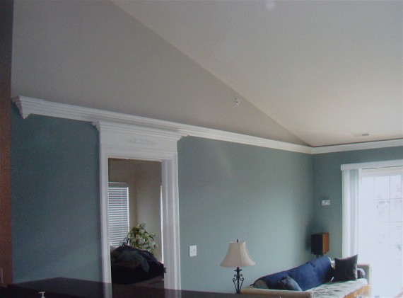 How to Terminate Flying Crown Molding on This Vaulted