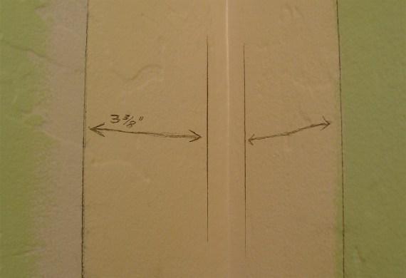 moldings in a small bathroom