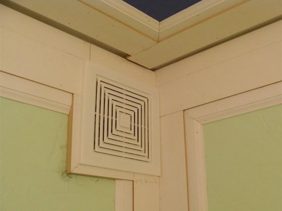 moldings on bathroom vent fan