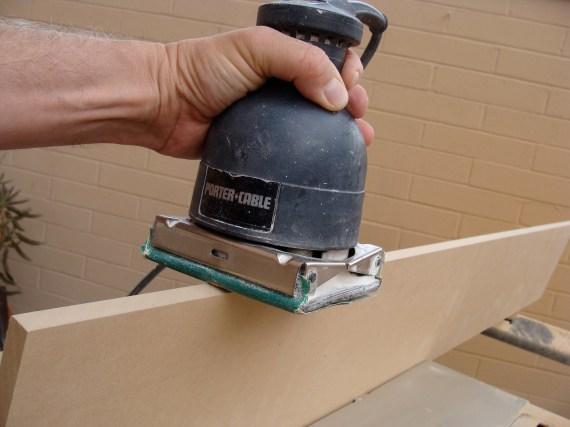 sanding mdf baseboard moldings