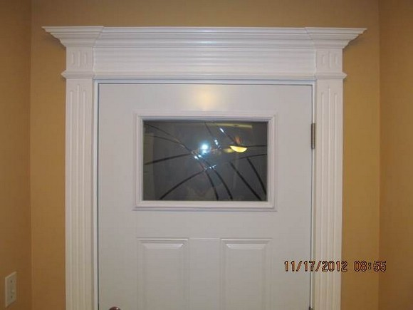 door trim surround painted