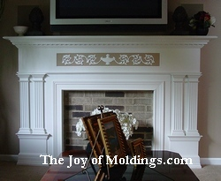 fireplace mantel diy