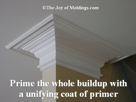 priming crown molding
