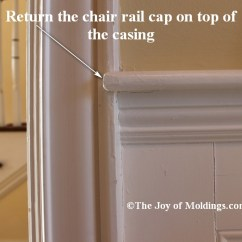 Chair Rail End Cap Reading And Table Return Your On Top Of Door Or Window Trim The Joy Moldings
