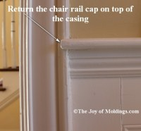 Return Your Chair Rail On Top of Door or Window Trim - The ...