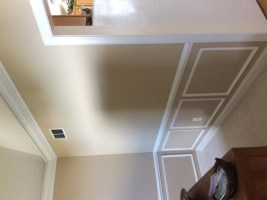 Howard's DIY Moldings in Dining Room with Vaulted Ceiling ...