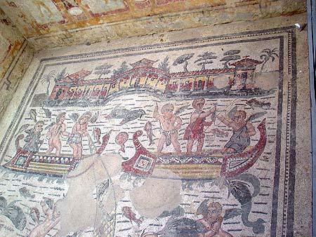 Fishing Mosaics At The Villa Romana Del Casale Sicily