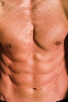 Abs in a Muscular male