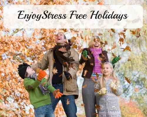 Bring back Joy and Peace with stress free holidays