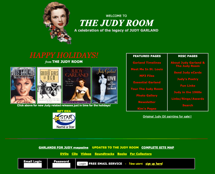 2002 Judy Room Holiday Homepage