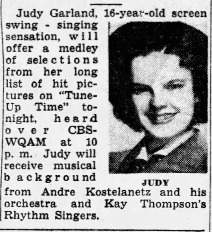 "Judy Garland ""Tune-Up Time"" with Kay Thompson"