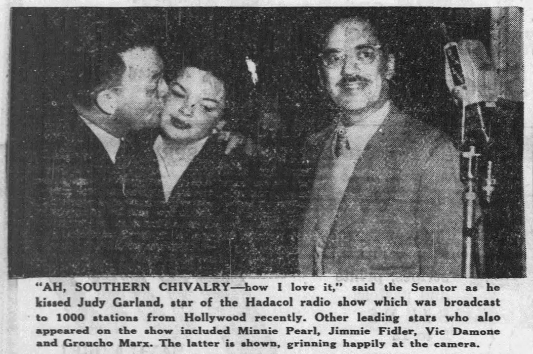 """Judy Garland and Groucho Marx """"Hollywood Party"""""""