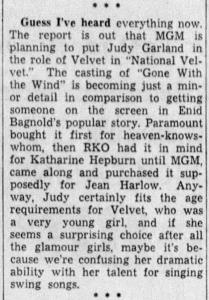 """Judy Garland in """"National Velvet"""""""
