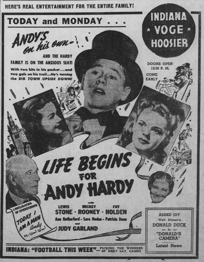 Life Begins for Andy Hardy starring Mickey Rooney and Judy Garland