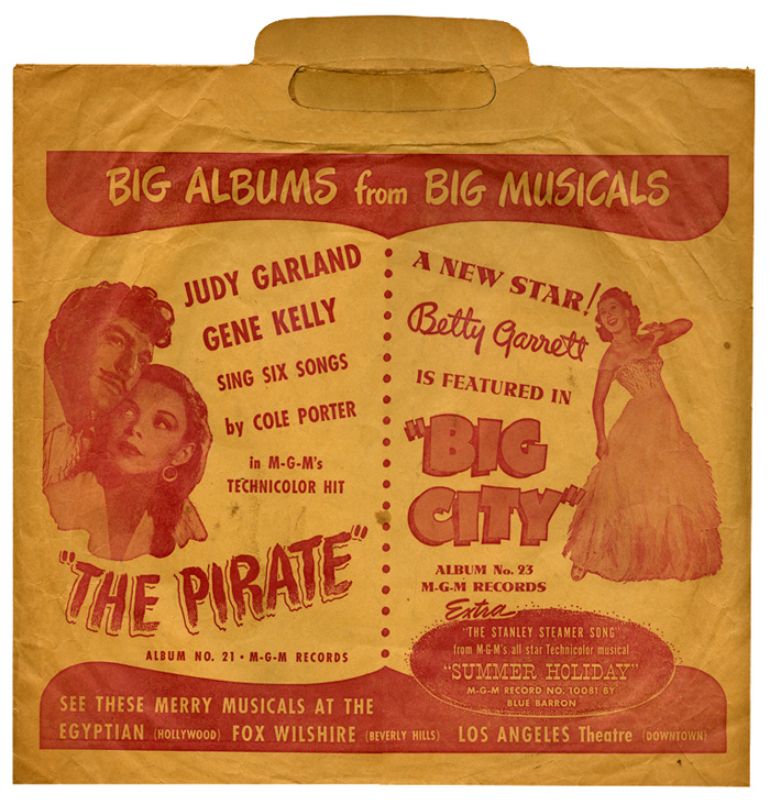 MGM Records 1948 collector's bag featuring The Pirate & Big City