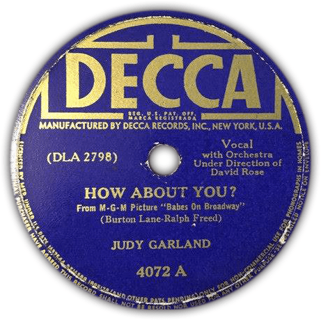 """Decca Records """"How About You?"""""""