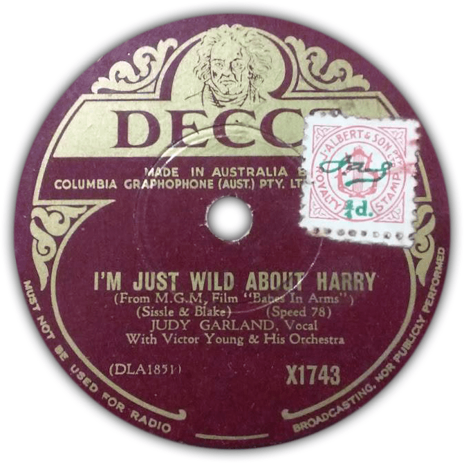 "Judy Garland ""I'm Just Wild About Harry"" Decca Records"