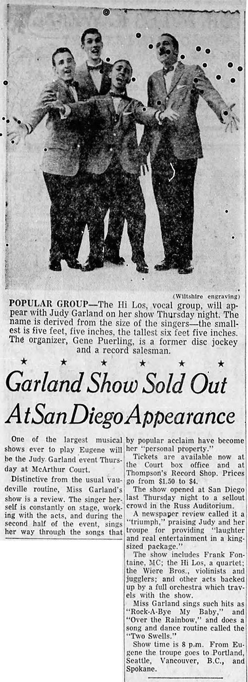 Judy Garland in San Diego
