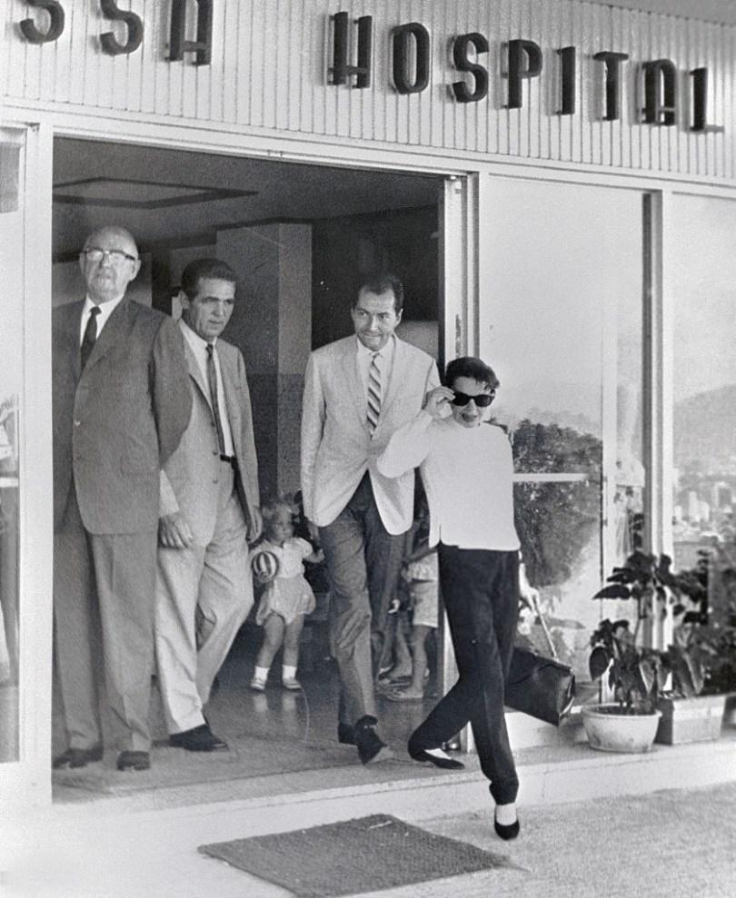 June 1, 1964, Judy Garland leaves her hospital in Hong Kong