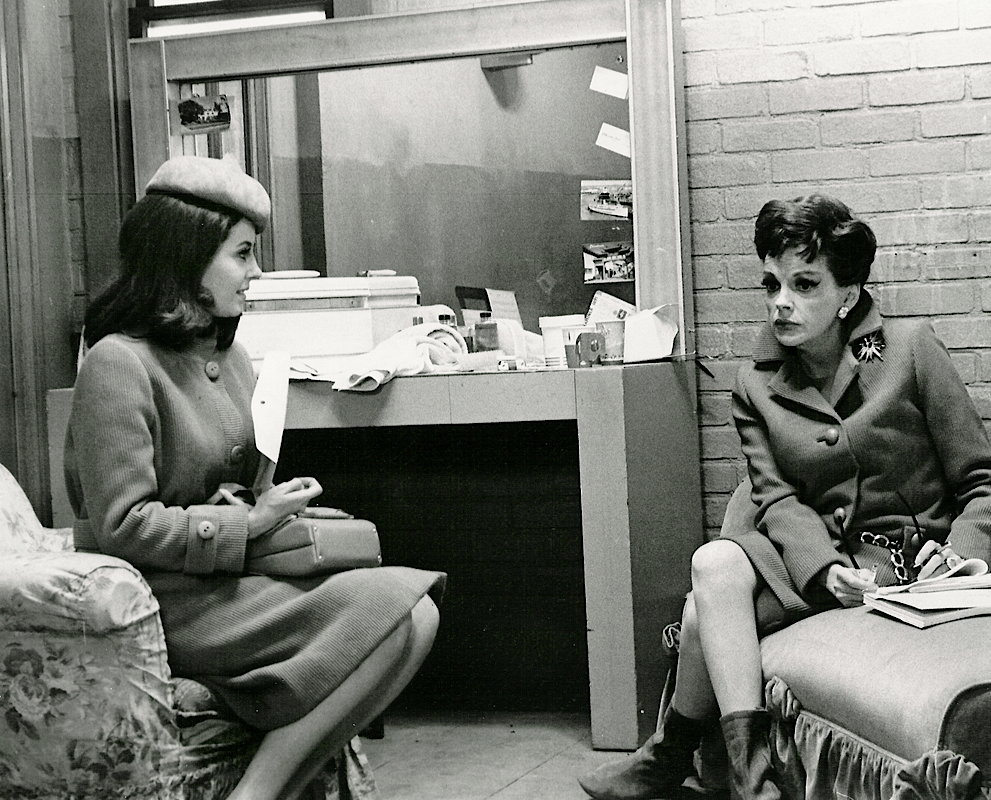 "Judy Garland and Barbara Parkins in ""Valley of the Dolls"""