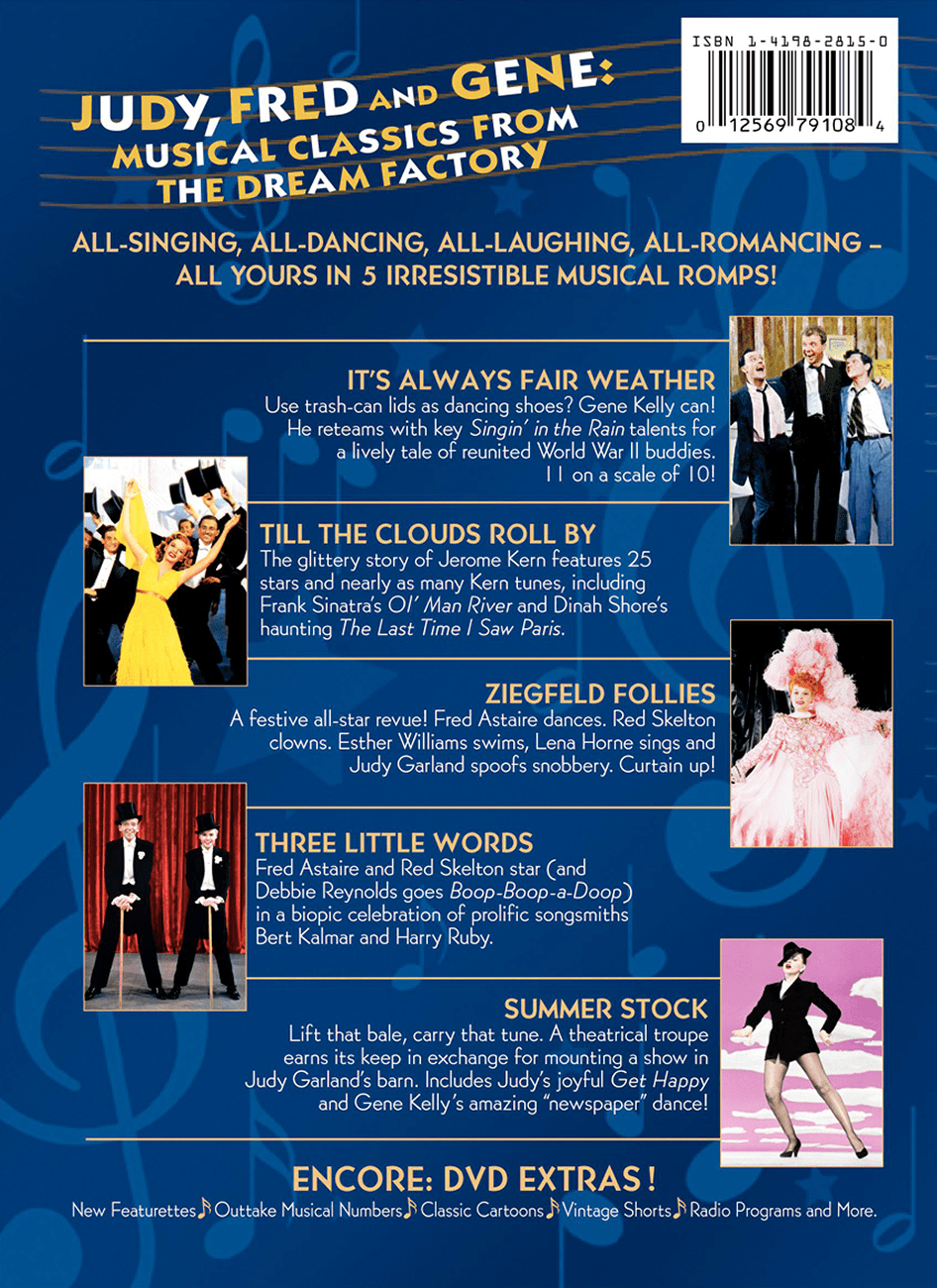 """2006 """"Classic Musicals From the Dream Factory"""" DVD boxed set"""