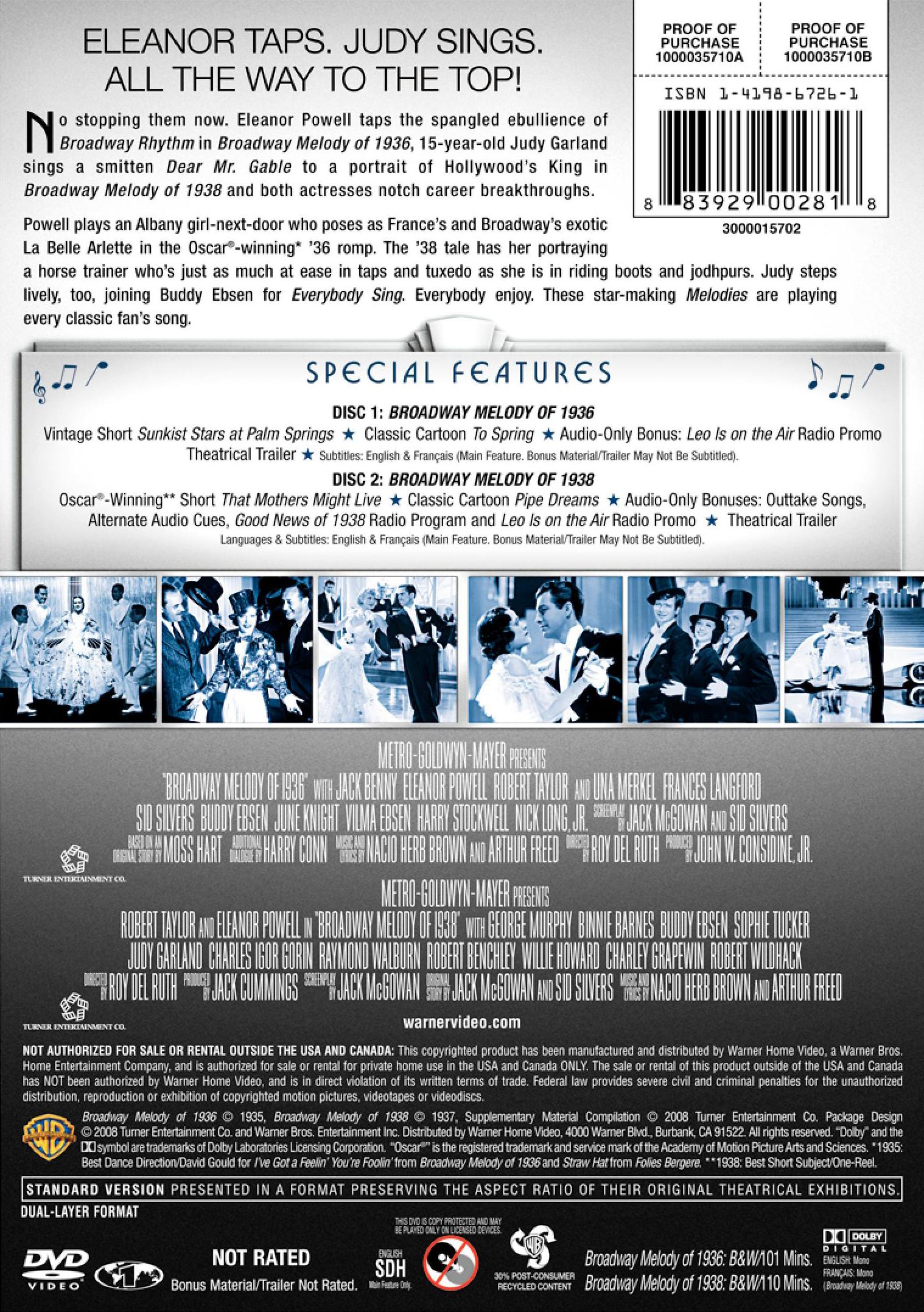 Broadway Melody of 1938 DVD