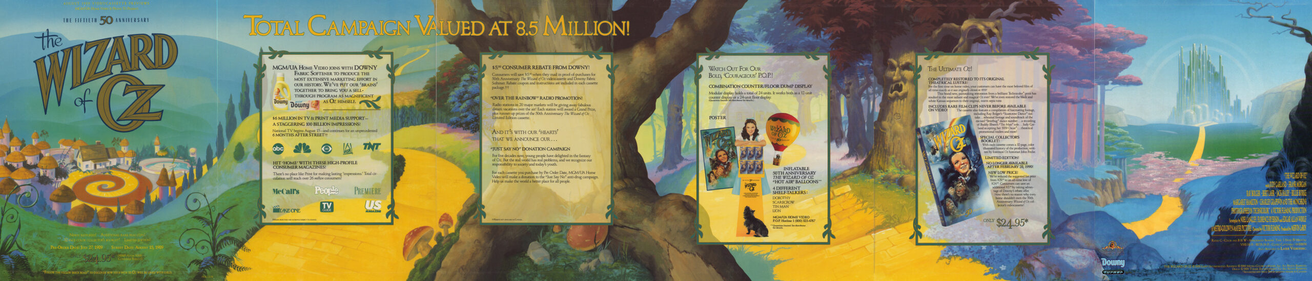 """1989 """"The Wizard of Oz"""" banner artwork"""