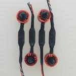 4 motors/escs with braided sleeving, overhead