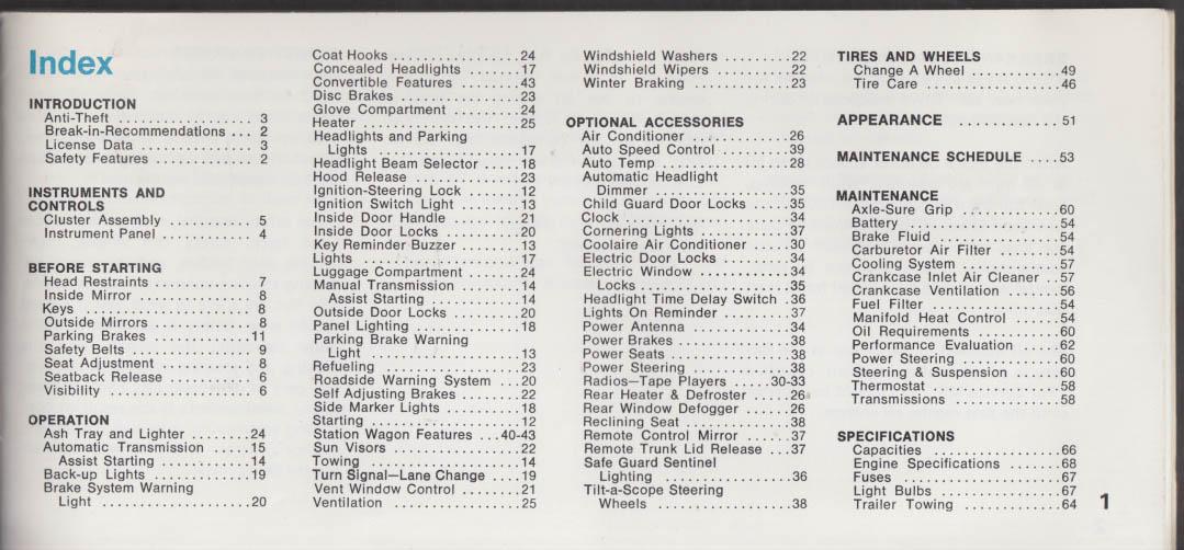 1970 Chrysler Operator's Manual Newport New Yorker 300