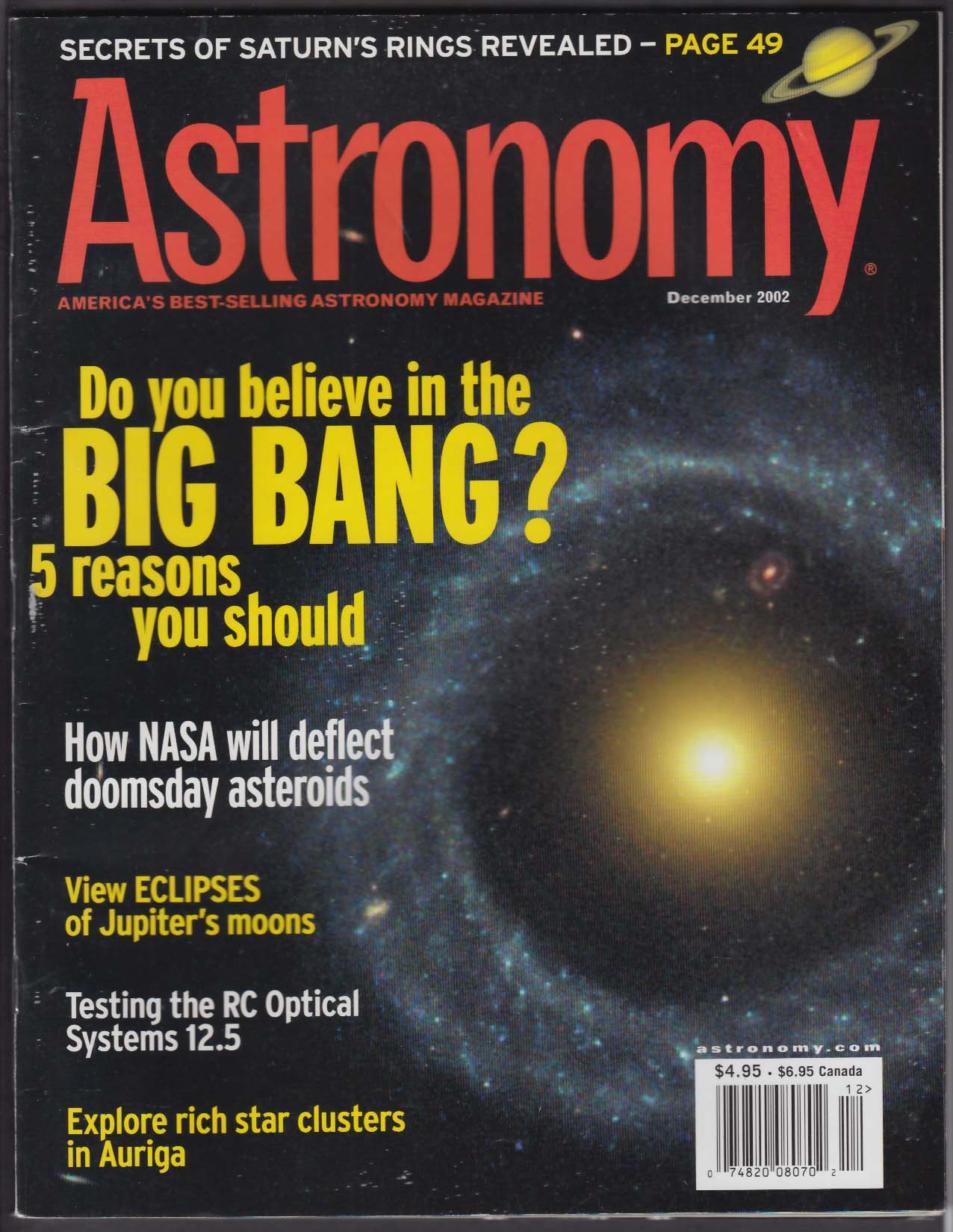 Astronomy Big Bang Ritchey Chretien Optical 12 5 Auriga