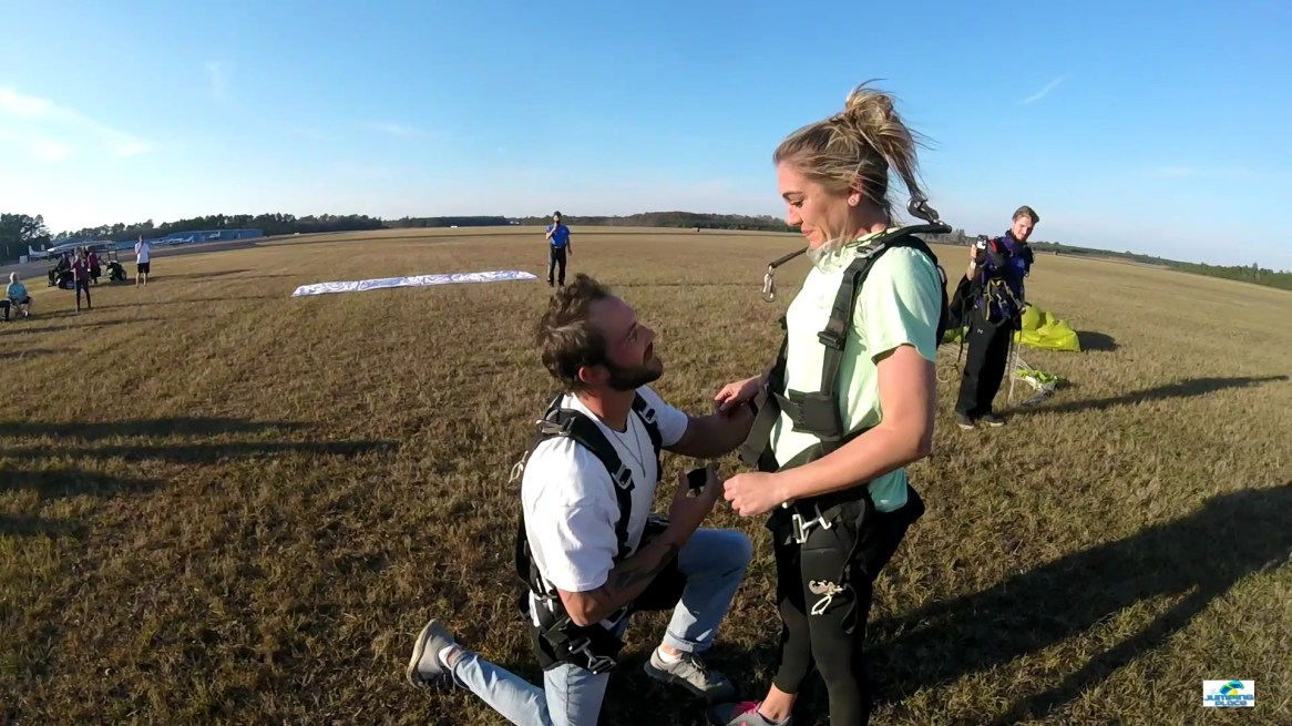 Propose to your loved one after experiencing the thrill of a lifetime