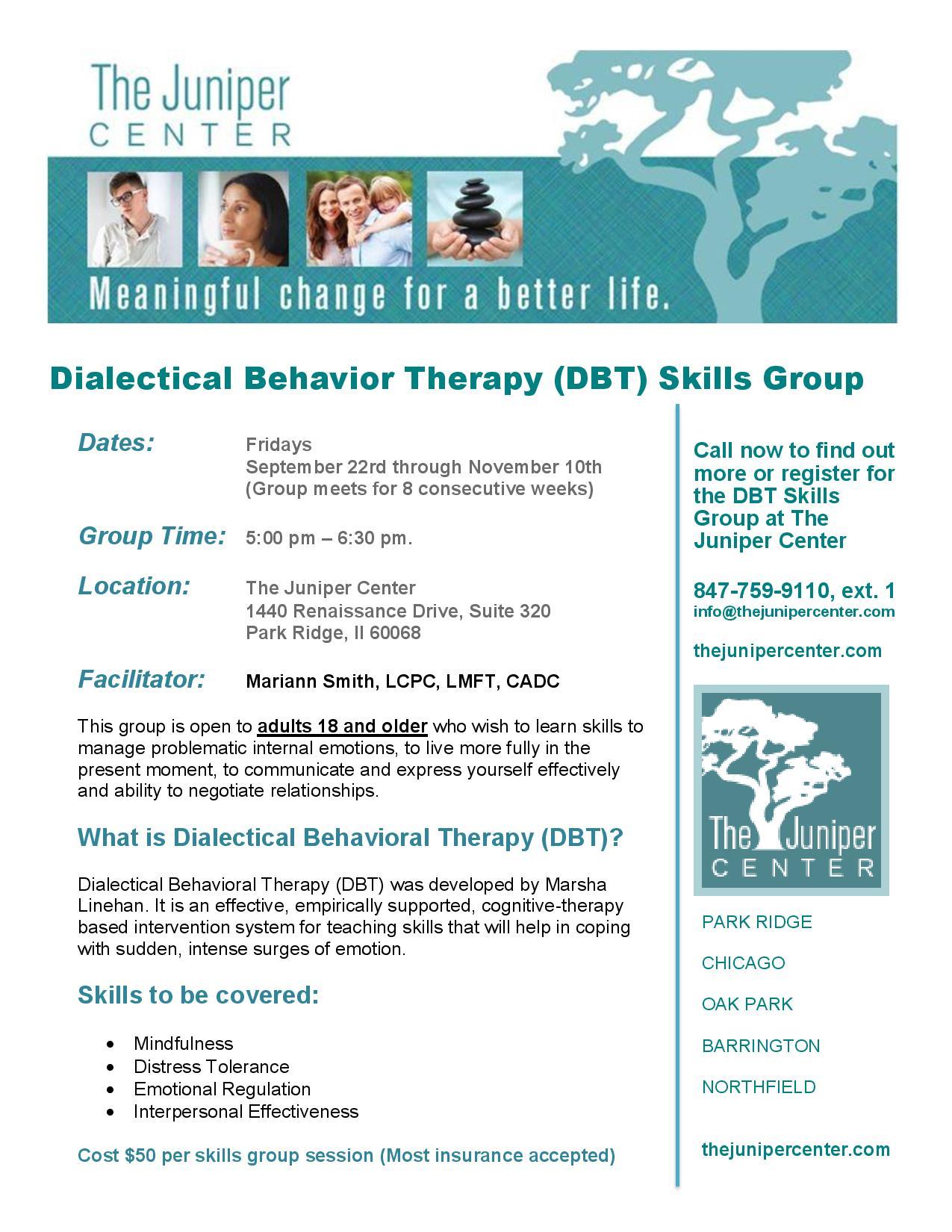 Dbt Group For Managing Emotional Regulation
