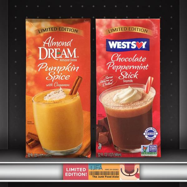 Almond Dream Pumpkin Spice Drink and Westsoy Chocolate