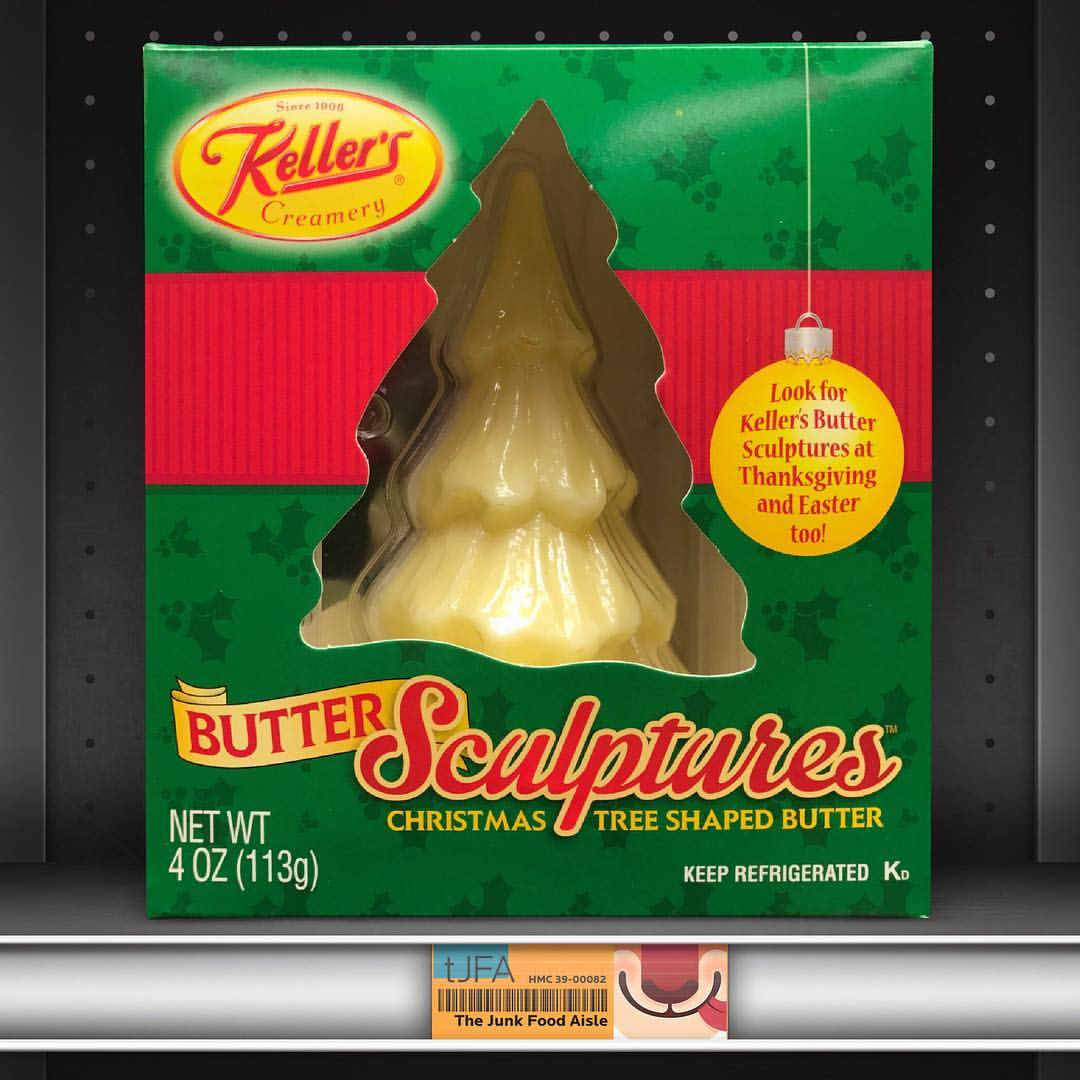 Kellers Christmas Tree Shaped Butter Sculptures  The
