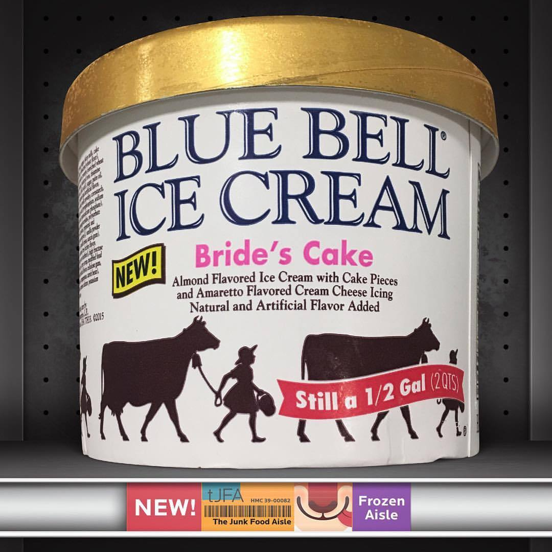 Brides Cake Blue Bell Ice Cream  The Junk Food Aisle