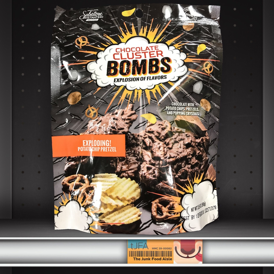 Chocolate Cluster Bombs: Exploding Potato Chip Pretzel