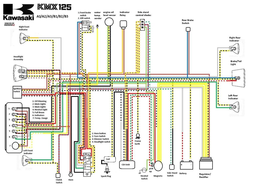 honda tmx wiring diagram