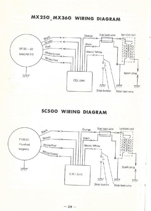 yamaha 350 1988 wiring diagram