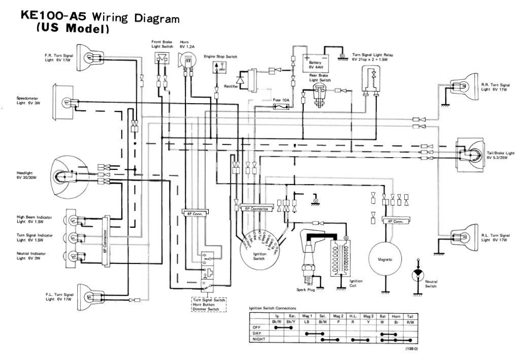 honda motorcycle wiring diagram xl100 plete network rj45 servicemanuals the junk man s adventures ke100 kawasaki km100