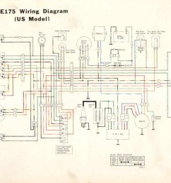 kawasaki ke100 km100 headlight battery circuit ke175 wiring diagram [ 1100 x 743 Pixel ]