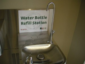 Water stations like this have already been installed at UH-Manoa and LCC. They'll be coming to HCC next semester.