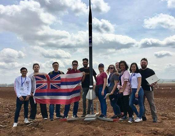 UH students launch into rocketry competition, wins rookie award