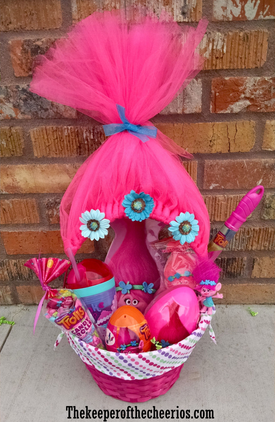 Six easy creative easter basket ideas hip2save trolls easter basket negle Image collections
