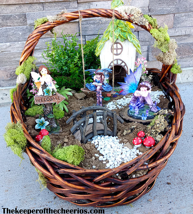 Easter Basket Fairy Garden  The Keeper of the Cheerios