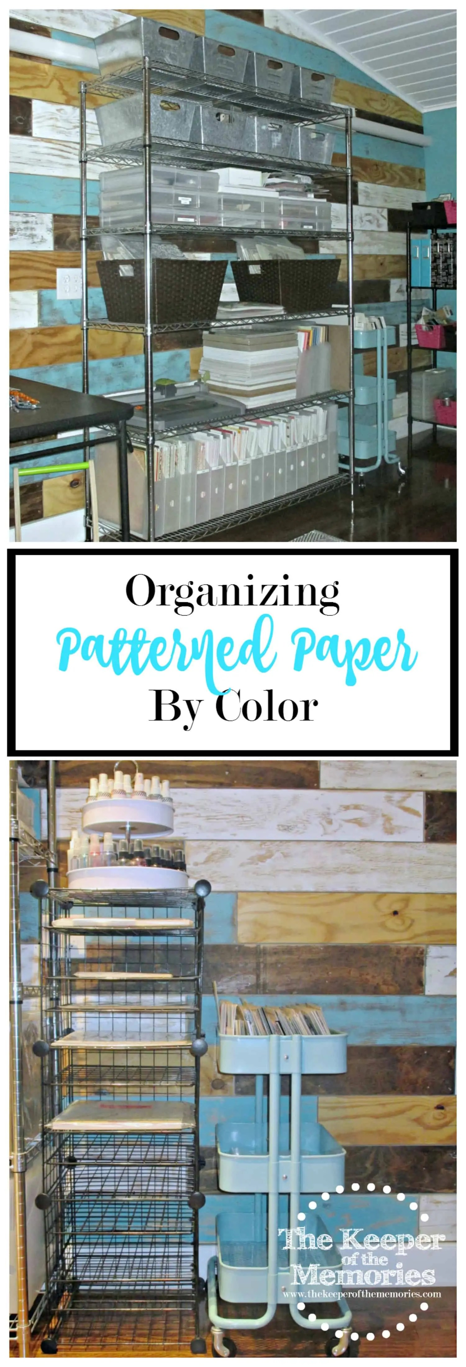 Organizing Patterned Paper By Color