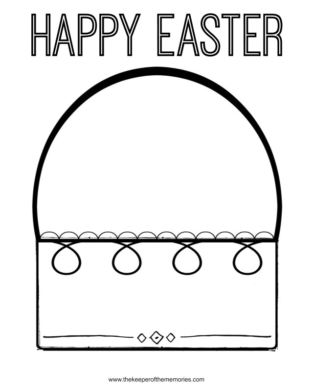 Free Printable Easter Coloring Pages for Preschoolers - The Keeper