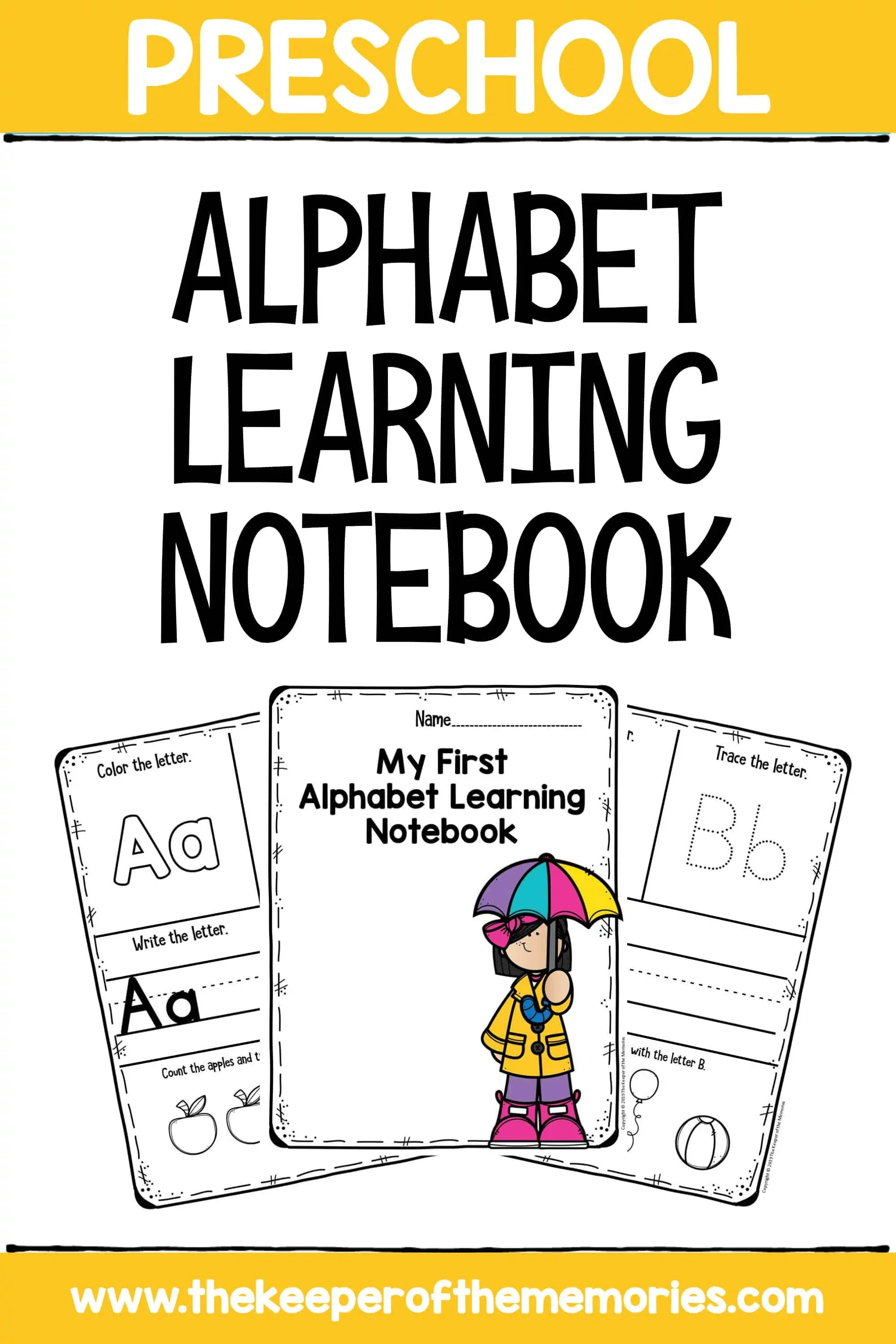 My First Alphabet Notebook Letters Preschool Worksheets