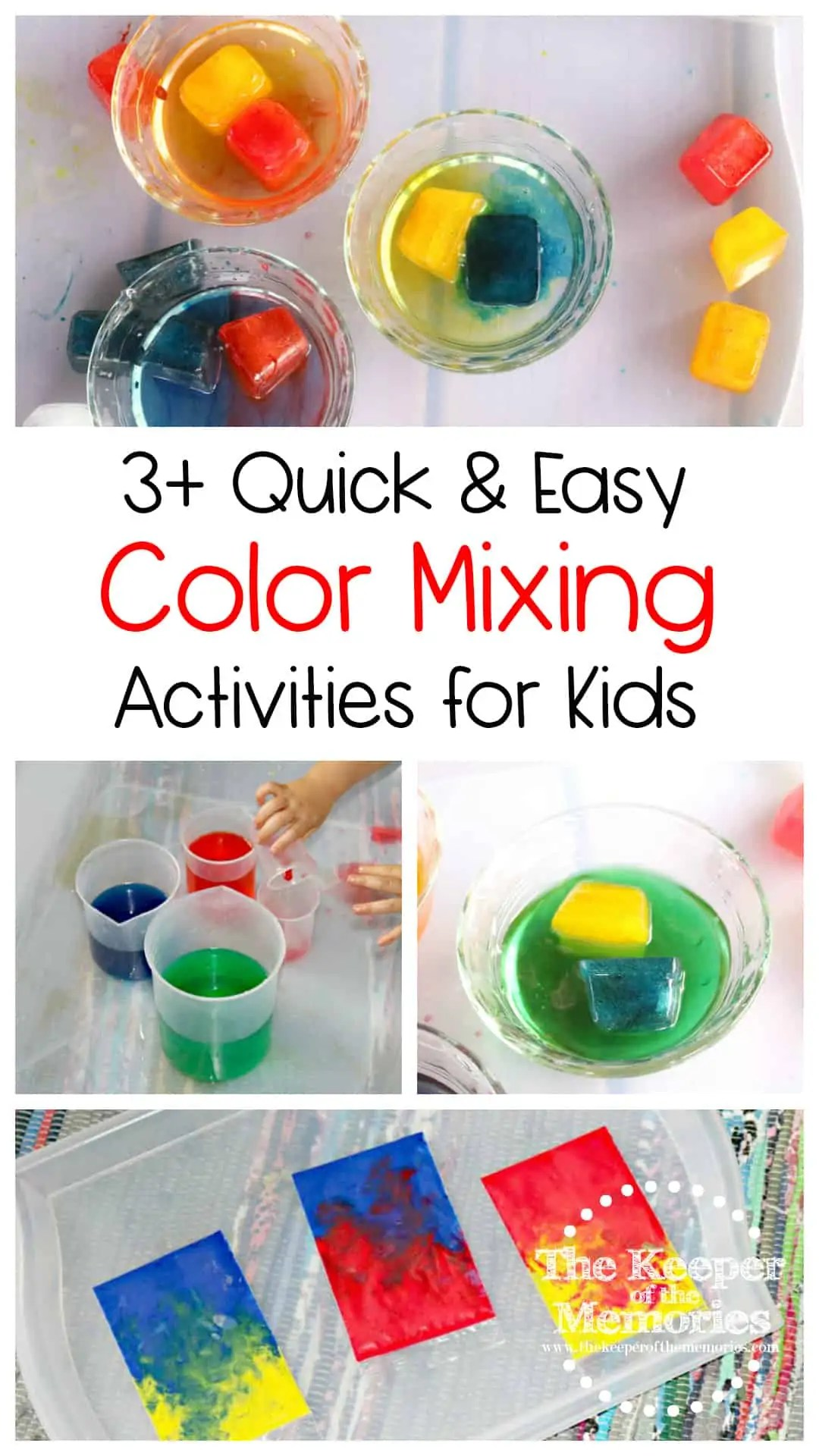 3 Awesome Color Mixing Activities For Little Kids